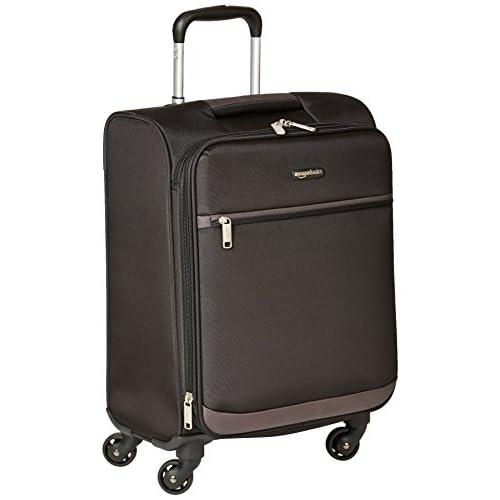 AmazonBasics - Trolley morbido con rotelle girevoli, 53 cm, dimensioni da bagaglio a mano, Nero