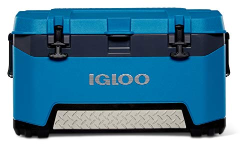 Igloo BMX 72 Quart Cooler with Cool Riser Technology, Fish Ruler, and Tie-Down Points - 18.70 Pounds - Blue