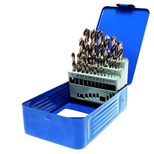 S&R Juego de brocas para metal Set 1-13mm 118 °, Caja con...
