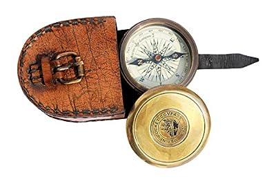 MAH Robert Frost Brass Poem Compass. C-3122