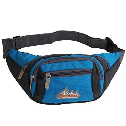 Bag Street - Gürteltasche Hüfttasche Bauchtasche Geldgürtel Reisetasche Kameratasche aus Nylon - präsentiert von ZMOKA® in versch. Farben (Blau)