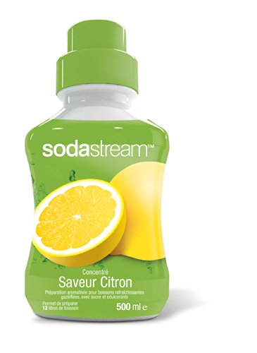 Sodastream Concentré Sirop Saveur Lemon Lime pour Machine à Soda 500 ml