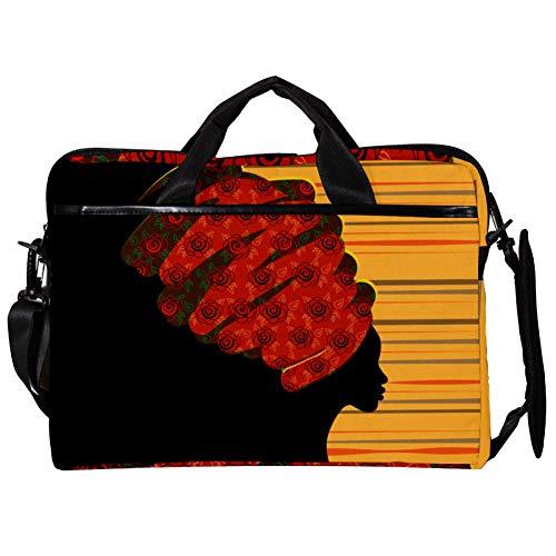 EZIOLY Damen Umhängetasche mit rotem Blumen-Stirnband, 35,6 cm bis 39,1 cm (14 Zoll) Laptops
