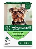 Advantage II 6-Dose Topical Flea Treatment for Small Dogs, Topical Flea Treatment for Small Dogs 3-10 Pounds