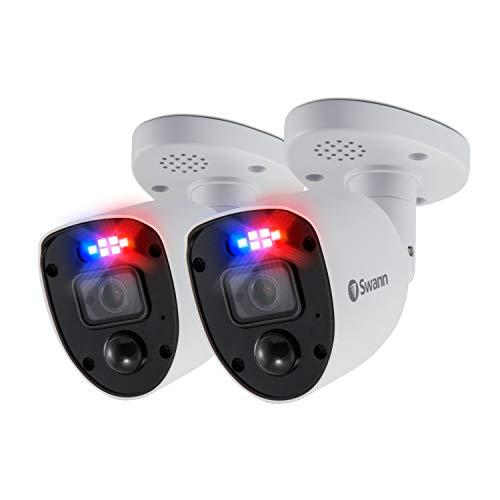 Swann CCTV Enforcer Cámaras de Seguridad analógicas 4K - Paquete de 2