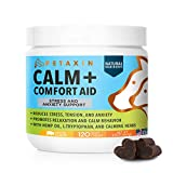 Petaxin Calming Treats for Dogs - Anxiety and Stress Relief - Supports Calm & Relaxed Behavior - Chamomile, Ginger, Valerian Root & More for Thunder, Fireworks, Storms, Barking - 120 Chews