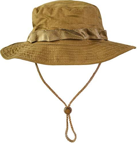normani Australian Outdoor Hut Boonie Hat in vielen Farben und Grössen Farbe Coyote Tan Größe M