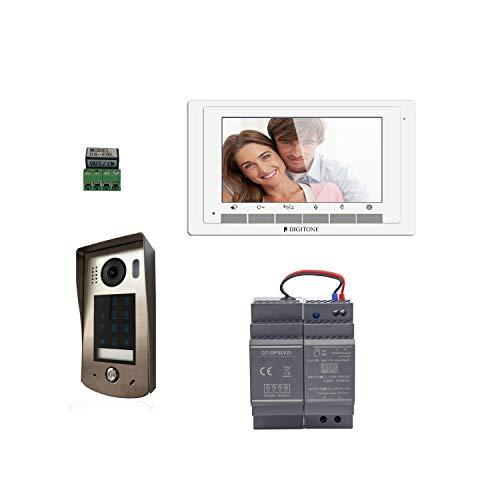 Digitone by Gates DIGI7C - Kit de videoportero con Teclado de código y Monitor de Color Plateado