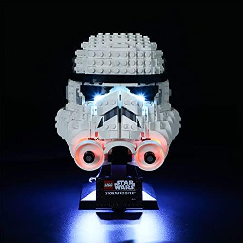 Conjunto De Luces Para (Casco Stormtrooper) Modelo De Bloques De Construcción, Kit De Luz LED Compatible Con LEGO 75276 Accesorios De Actualización Para Modelos De Juguete (No Incluido El Modelo)