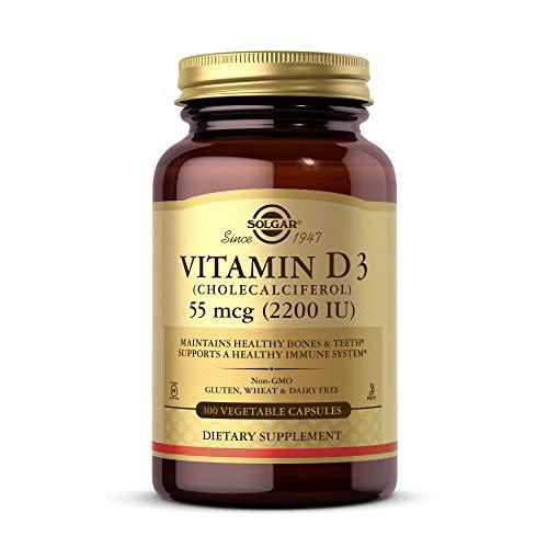 Solgar Vitamina D3 (Colecalciferol) 2200 UI (55 µg) Cápsulas vegetales - Envase de 100