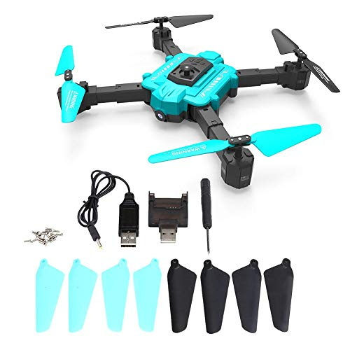 Redxiao Portable Foldable Drone Mini RC Drone, RC Helicopter 2.4GHz 4 Channel Mini Drone, Remote Control Plane for Boys Kids Girls Adults(Blue black)