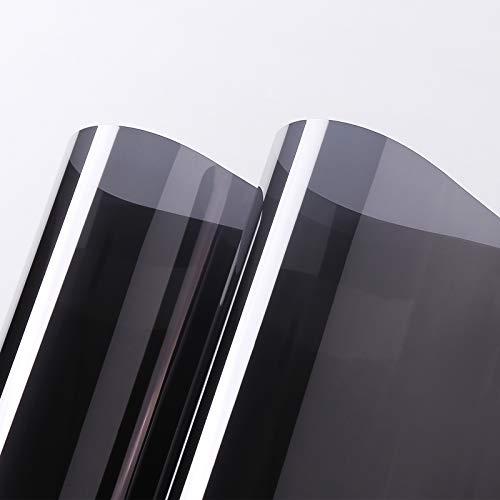 PROHOUS Sonnenschutz Fensterfolie Selbsthaftend Spiegelfolie Fenster sichtschutz Verdunkelungsfolie Fenster Innen UV-Schutz Infrarot-Schutz Wärmeschutzfolie Dachfenster Schwarz-Grau 90x200cm