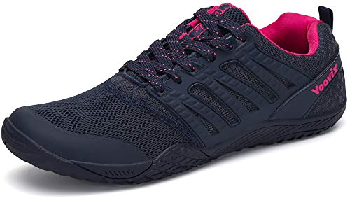 Voovix Mens Barefoot Shoes Womens Gym Athletic Trail Running Shoes Unisex Minimalist Hiking Shoes for Outdoor Sports Cross Trainer, BlueRoes41