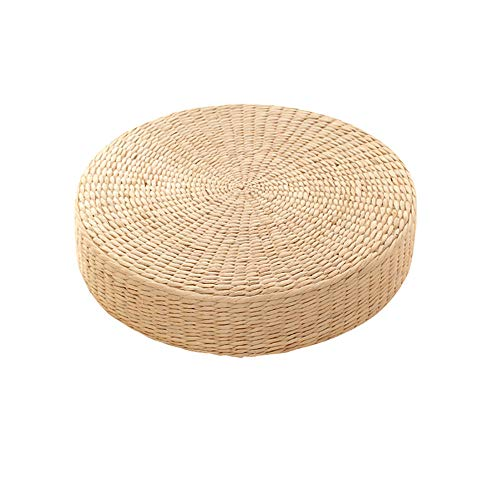 Coffee Table Japanese Style Zen Bay window table Small Simple Balcony Low table Platform Table Grass Weaving Rattan Woven Grass weaving Lazy -D_40*10cm