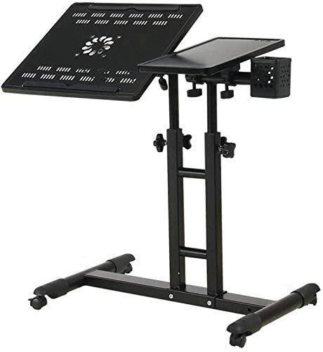TRYSHA Tabellen-Schreibtisch-beweglicher Laptop Stand Schreibtisch Wagen mit Maus Brett Einstellbare Höhe 360 Grad;Lenk- und 180 Grad;Tilt Abschließbare Casters (Farbe: 4) Tragbarer Computerständer