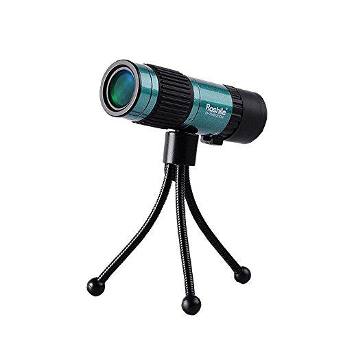 FELiCON Mini HD Monoculares 15-75 * 25, Telescopio HD de Alto Rendimiento Visión Nocturna con Protección Impermeable y Antiniebla para Poca Luz, para Observación de Aves, Caza, Camping, Viajes