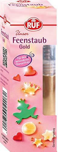 RUF Feenstaub Gold Dekoglitter essbar, 1er Pack (1 x 10 g)