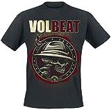 Volbeat Beyond Hell & Above Heaven Hombre Camiseta Negro XL, 100% algodón, Regular