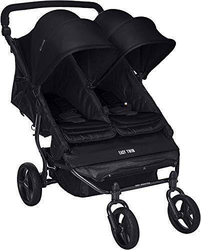 Best Prices! Baby Monster Easy Twin 2.0 Double Stroller with Rain Cover and Front Bar for Twins or S...