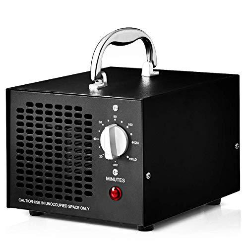 COSTWAY Generador de Ozono 5000mg / h Profesional Ozonizador Purificador de Aire Función de Temporizador