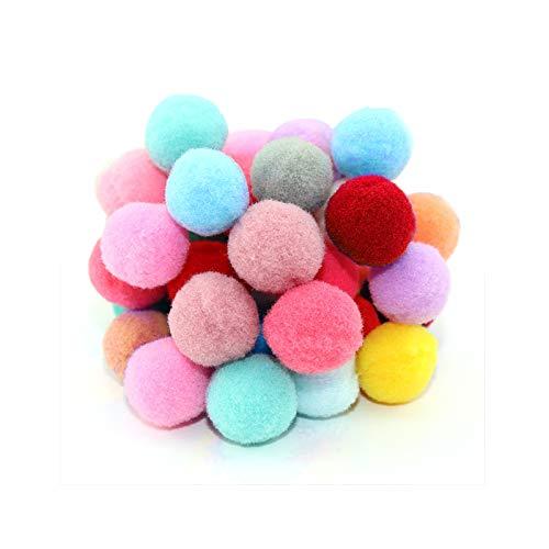 Gresunny 700 piezas pompones colores mini bolas de pompones fieltro pompoms balls pompones suaves y esponjosos bolas de peluche para niños arte y bricolaje, manualidades y decoraciones 2cm