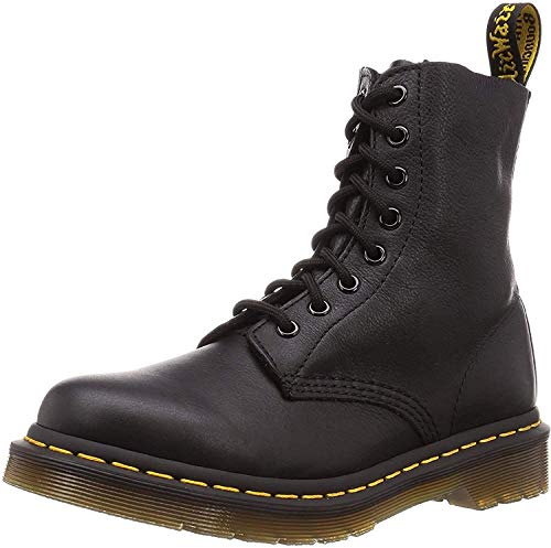 Dr. Martens PASCAL Virginia BLACK, Damen Combat Boots, Schwarz (Black), 43 EU (9 Damen UK)