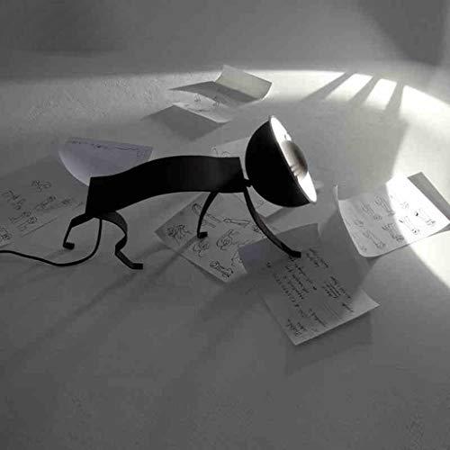 YUXIwang Personalidad Simple Arte Creativo Moderno y de Moda lámpara de Hierro Forjado, Hotel Lighting lámpara de cabecera Dormitorio, luz de la Noche de Lectura Encendiendo