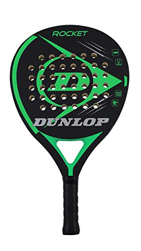 Pala de pádel Dunlop Sports Rocket, color verde