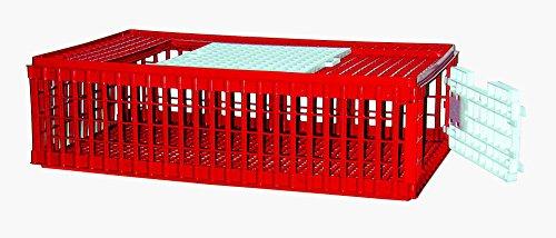 Geflügel-Transportkiste aus Kunststoff, mit 2 Öffnungen (57 x 95 x 28 cm)