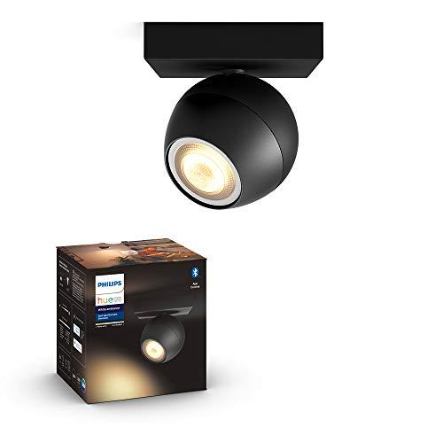 Philips Hue Buckram Foco Inteligente LED blanco con Bluetooth, Luz Blanca de Cálida a Fría, Compatible con Alexa y Google Home