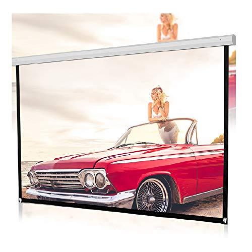Snlaevx Beamer Leinwand 60 Zoll HD 4K 16: 9 Faltenfrei Tragbar Faltbar Beamer Screen Projektorleinwand Home Kinoleinwand Projektionswand Leinwandtuch (Weiß)