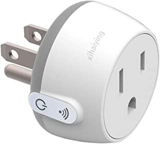 Wifi Smart Plug Outlet Socket,Remote Control 10 Amp Smart Life Adapter for Home Improvement, Works with Alexa,Google Home,IFTTT, Anti Flame Retardancy (FCC,ROHS,CE)