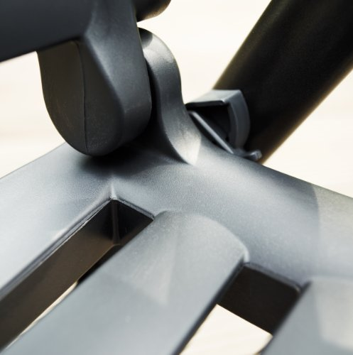 Kettler Gartenstuhl Hochlehner - stabiler Klappsessel für den Garten - Rückenlehne mehrstufig verstellbar - silber…