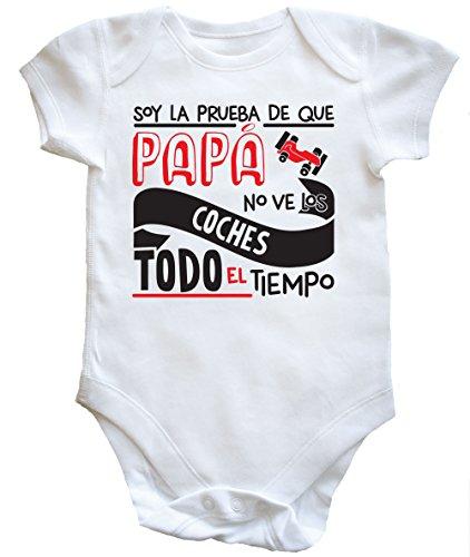 HippoWarehouse Soy La Prueba de Que Papá No Ve Los Coches Todo El Tiempo Body Bodys Pijama niños niñas Unisex
