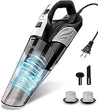 Handheld Vacuum, Meiyou 12Kpa Powerful Suction Wet & Dry Vacuum Cleaner, Handheld Vacuum Corded with Quick Tech, Rechargeable Portable Handheld Vac with Stainless Steel HEPA Filter,Black
