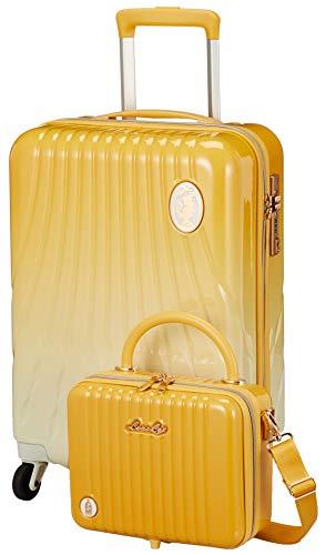 [シフレ] スーツケース ディズニープリンセス ベル LUN2214-50 23 cm イエロー