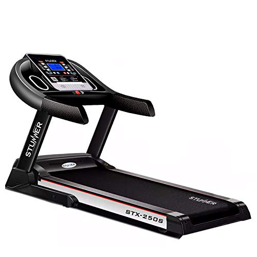 Stunner Fitness STX-250S 2.0 HP (4.0 HP Peak) Motorized Treadmill with Auto Lubrication System, MP3 Music, Smart Phone App for Cardio Workout at Home (Free Installation Assistance)