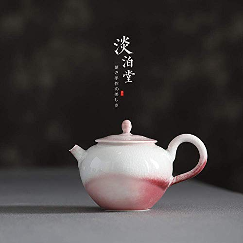 Yadianna Ceramic Porcelain Red Ceramic Handmade Hole Master Pot Brook Personal Play Pot Pink