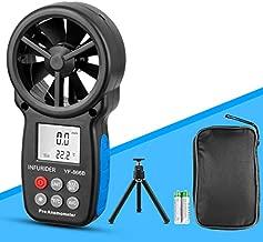 Digital Handheld Anemometer INFURIDER YF-866B Portable Wind Speed Meter Gauge,Wind Velocity/Wind Temperature Measuring with Backlit for HVAC CFM Shooting Drone Flying(Tripod Included)