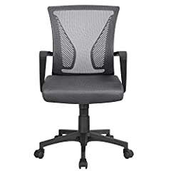 Chaise de bureau Yaheetech Chaise pivotante réglable en hauteur avec dossier de siège de sport Chaise d'ordinateur respirante
