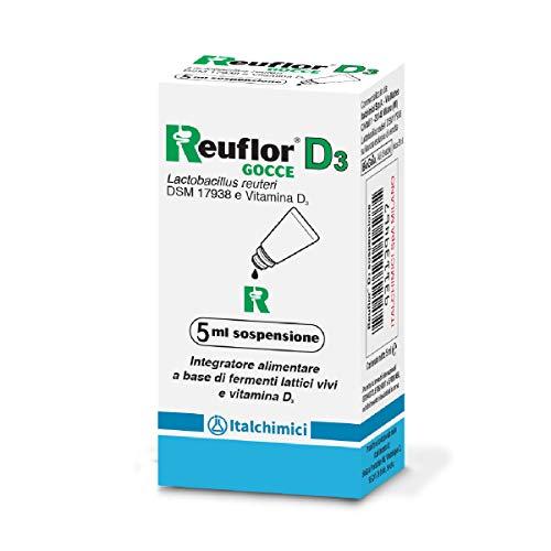 Reuflor®D3Gocceda5 ml| IntegratoreAlimentarea base di FermentiLatticie vitamina D3|Perbambini|Favoriscel'equilibrio della flora intestinalee ilbuonfunzionamento del sistema immunitario