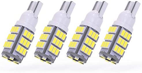 YITAMOTOR 921 LED Bulb RV Interior Light White, T10 192 194 906 12V LED Replacement Light Bulb for Car Trailer Backup Reverse Dome Map Light, 42-SMD, 4-Pack