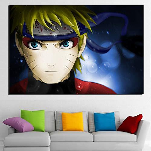 zhuziji DIY Malen nach Zahlen Cartoon Anime Charakter Naruto Moderne Kunst Bild DIY malen nach Zahlen Blumen Mit Pinsel und Acrylfarbe Kits Theme Digital Home Wall Artwork Geeign40x60cm(Kein Rahmen)