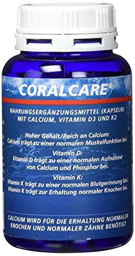 Coralcare Coral Calcium mit Vitamin D3 und K2, 1er Pack (1 x 120 Kapseln)