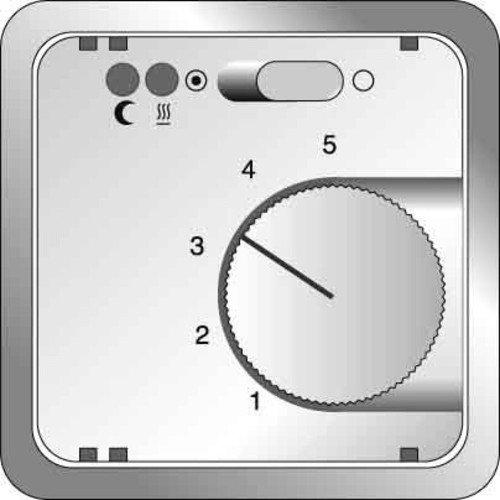 Elso 2272019 centrale plaat temperatuurregelaar met afstandsbediening voor gebruik Fab, aluminium effect