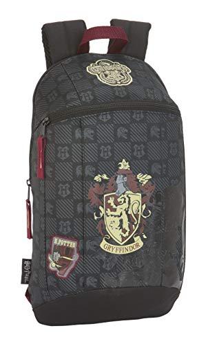 Harry Potter Gryffindor Mochila Tipo Casual, Senderismo, Negro
