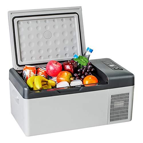 KLFD Mini Refrigerador para Automóvil, Congelador de Compresor 15 L, Control Bluetooth, 12 V / 24 V Enfriamiento Rápido 20 ° a -20 °, Ahorro de Energía y Protección del Medio Ambiente,15l