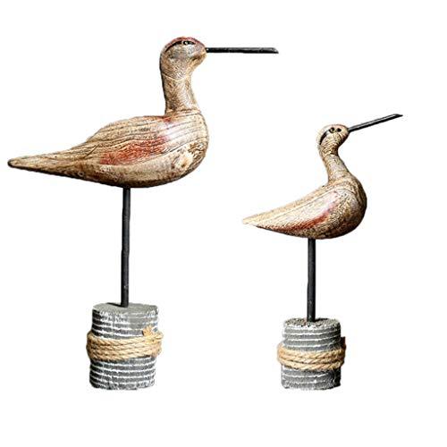 LOVIVER 2 Stücke Realistische Vogel Figuren Detaillierte Niedlichen Holzfiguren