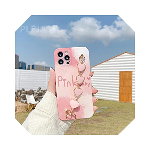 Funda para iPhone 12 Mini 11 Pro Max X XS Max XR SE 2020 7 8 Plus Moda muñeca correas Funda-YY335-1-For-iphone11
