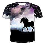Camiseta de manga corta con estampado de lobo animal 3D para hombre